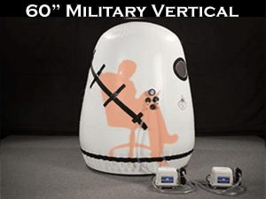 Military vertical hyperbaric chamber